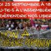 Appel du collectif « Non état d'urgence » à manifester le 25 septembre